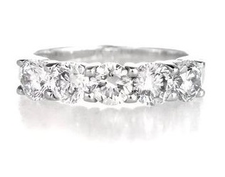 5 Stone Wedding Band